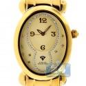 Aqua Master Oval Swiss Quartz Womens Yellow Watch