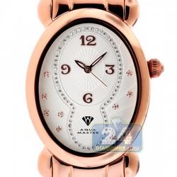 Aqua Master Oval Swiss Quartz Womens Rose Watch