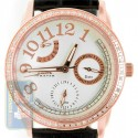 Aqua Master 0.50 ct Diamond Womens Rose PVD Silver Dial Watch