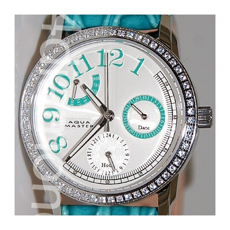 Aqua Master Classique 0.50 ct Diamond Womens Green Watch