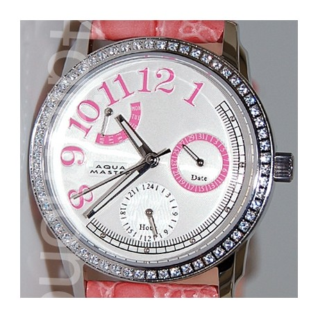 Aqua Master Classique 0.50 ct Diamond Womens Pink Watch