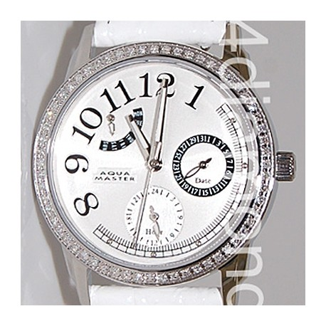 Aqua Master Classique 0.50 ct Diamond Womens White Watch