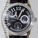 Aqua Master Classique 0.50 ct Diamond Womens Black Watch