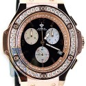 Aqua Master Oval 4.00 ct Diamond Mens Rose Gold Steel Watch