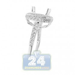 18K White Gold 0.69 ct Square Diamond Engagement Ring Setting