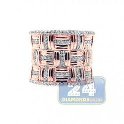 14K Rose Gold 0.55 ct Diamond Womens Band Ring