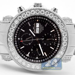Mens Diamond Automatic Watch Joe Rodeo Junior Black Dial 7.00 ct