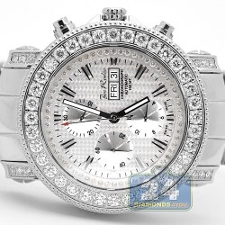 Mens Diamond Automatic Watch Joe Rodeo Junior Silver Dial 7.00 ct