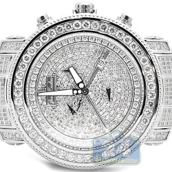 Joe Rodeo Junior 17.25 ct Iced Out Diamond Silver Watch JJU42