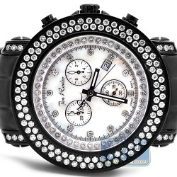 Mens Diamond Black Steel Watch Joe Rodeo Junior JJU81 4.75 ct