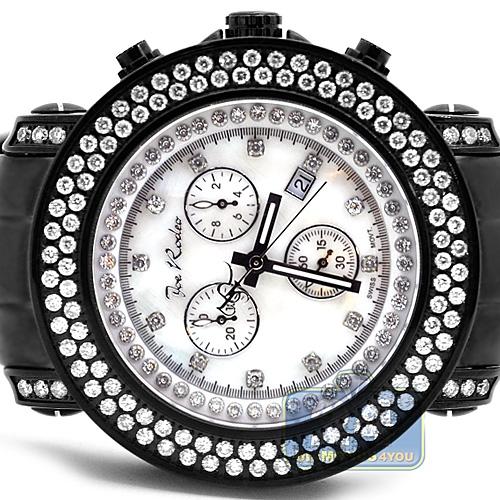 Mens Diamond Black Steel Watch Joe Rodeo Junior Jju81 4 75 Ct