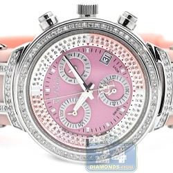 Womens Diamond Watch Joe Rodeo Master JJML1 0.90 ct Pink Dial