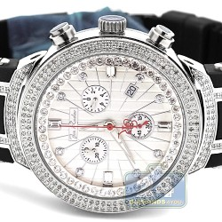 Mens Diamond Silver Watch Joe Rodeo Master JJM95 2.20 Carats