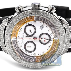 Mens Diamond Watch Joe Rodeo Master JJM2 2.20 ct White Dial