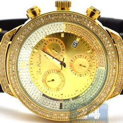 Mens Diamond Watch Joe Rodeo Master JJM4 2.20 ct Yellow Dial