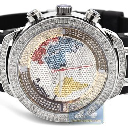 Mens Diamond Watch Joe Rodeo Master JJM6 2.20 ct Map Dial