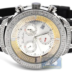 Mens Diamond Watch Joe Rodeo Master JJM1 2.20 ct Silver Dial
