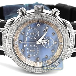 Mens Diamond Watch Joe Rodeo Master JJM29 2.20 ct Blue Dial