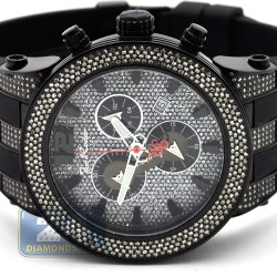 Mens Diamond Watch Joe Rodeo Broadway JRBR5 5.00 ct Black Case