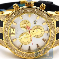 Mens Diamond Gold Watch Joe Rodeo Broadway JRBR9 5.00 Carats