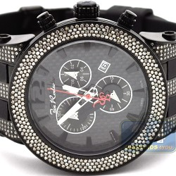 Mens Diamond Watch Joe Rodeo Broadway JRBR7 5.00 ct Carbon Dial