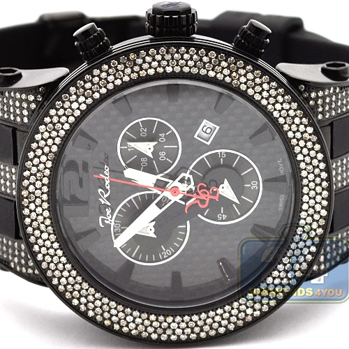 Mens Diamond Watch Joe Rodeo Broadway JRBR7 5.00 ct Carbon Dial eb40489e2