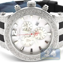 Mens Diamond Watch Joe Rodeo Broadway JRBR8 5.00 ct White Dial