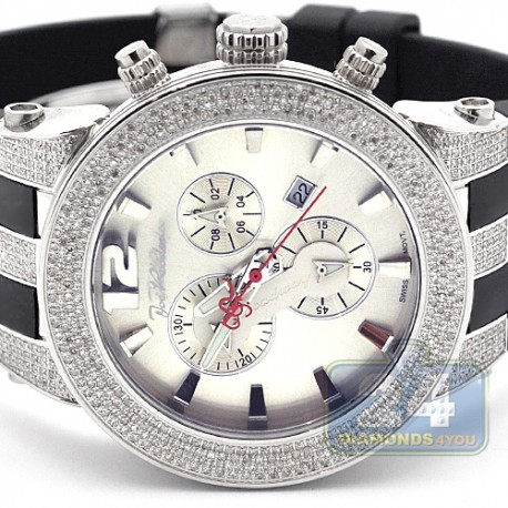 Mens Diamond Silver Watch Joe Rodeo Broadway JRBR10 5.00 Carats