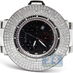 Joe Rodeo Razor 10.40 ct Diamond Mens Black Dial Watch JROR13