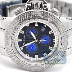 Joe Rodeo Razor 4.00 ct Diamond Mens Blue Dial Watch JROR3