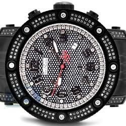 Joe Rodeo Apollo Black PVD 1.70 ct Diamond Mens Watch IAPO7
