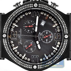 Joe Rodeo Phantom 2.25 ct Diamond Black PVD Mens Watch JPTM27