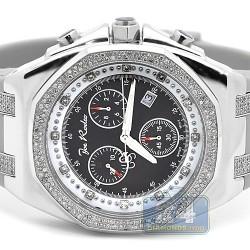 Mens Diamond Black Dial Watch Joe Rodeo Panama JPAM2 2.15 ct