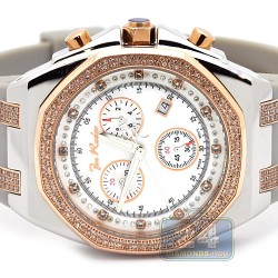Mens Diamond Two Color Watch Joe Rodeo Panama JPAM4 2.15 ct