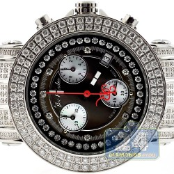 Womens Diamond Black Dial Watch Joe Rodeo Rio JRO18 10.0 Carat