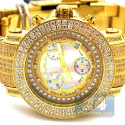 Womens Diamond Yellow Gold Watch Joe Rodeo Rio JRO19 10.0 Carat