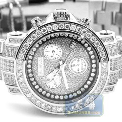 Joe Rodeo Rio 9.50 ct Iced Out Diamond Pave Dial Watch JRO7