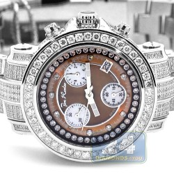 Womens Iced Out Diamond Brown Watch Joe Rodeo Rio JRO10 9.50 ct