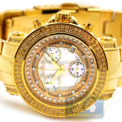 Womens Diamond Gold Watch Joe Rodeo Rio JRO15 1.25 ct White Dial
