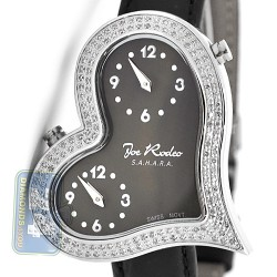 Joe Rodeo Sahara Heart 1.40 ct Diamond Black Dial Womens Watch JRS3