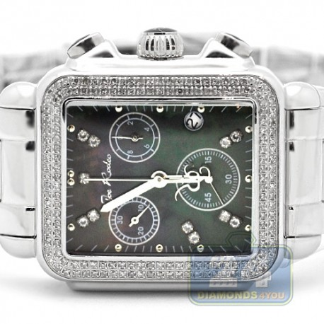 Womens Diamond Black Dial Watch Joe Rodeo Madison JRMD2 1.5 Ct