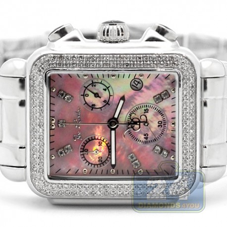Womens Diamond Pink Watch Joe Rodeo Madison JRMD7 1.50 Carat