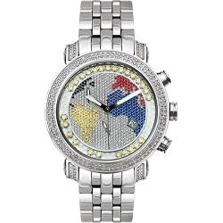 Joe Rodeo World Map Dial 2.00 ct Diamond Mens Watch JTM14