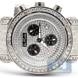 Joe Rodeo 7.25 ct Diamond Pave Chronograph Mens Watch JCL67