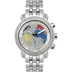 Joe Rodeo Classic 1.75 ct Diamond Map Dial Mens Watch JCL49(WY)
