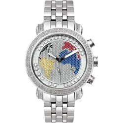 Joe Rodeo World Map 1.75 ct Diamond Mens Watch JCL49(W)