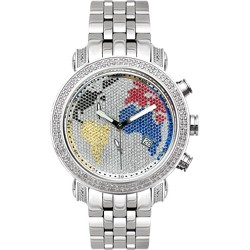 Joe Rodeo 1.75 ct Diamond World Dial Mens Watch JCL46