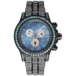 Mens Blue Diamond Watch Joe Rodeo Master Pilot JMP25 26.70 ct