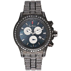 Mens Black Diamond Watch Joe Rodeo Master Pilot JMP24 26.70 ct