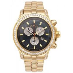 Mens Diamond Gold Watch Joe Rodeo Master Pilot JMP10 7.20 ct